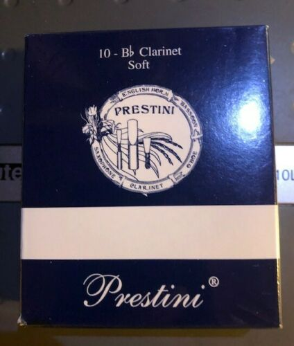 Prestini clarinet reeds soft #2 box of 10