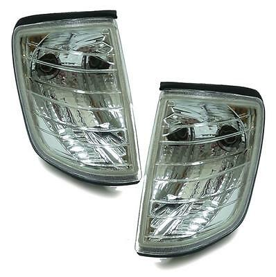 Clear Finish chrome indicator set turn signal light for Mercedes W124 85-93