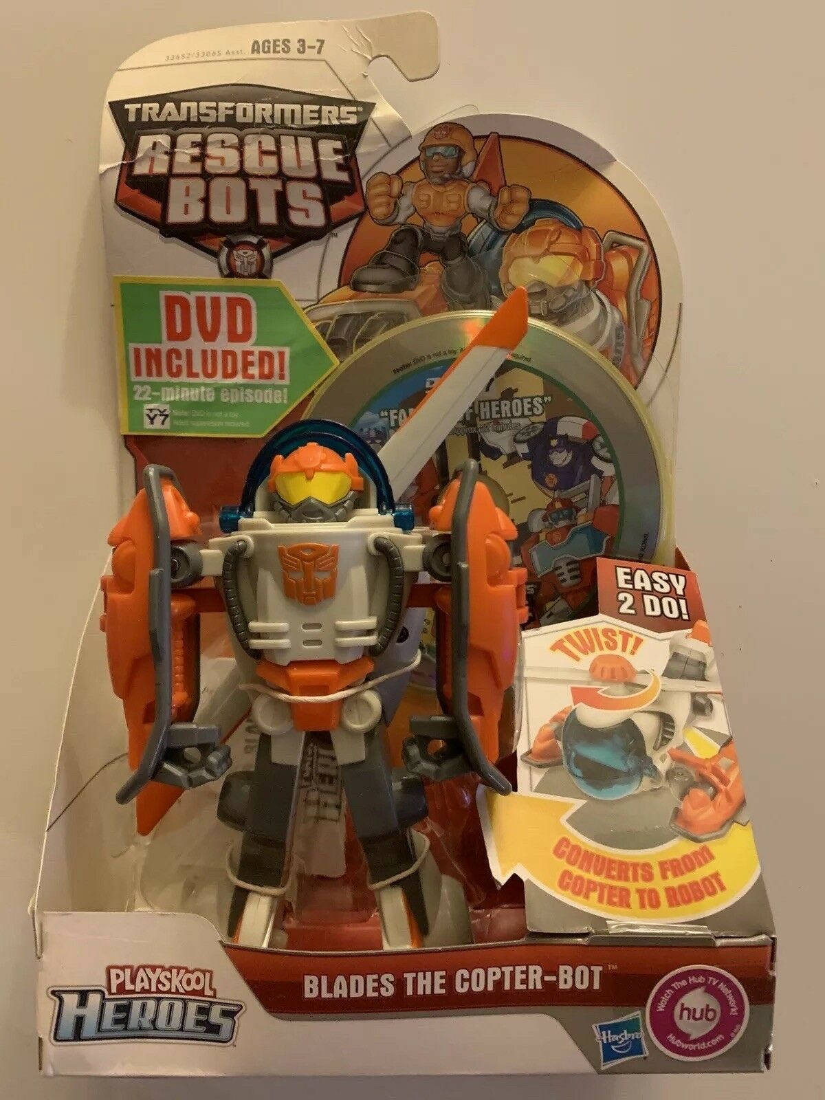 Transformers Rescue Bots - Blades The Copter-Bot Original New