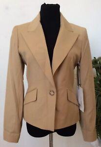 NWT-Cynthia-Rowley-Women-039-s-Career-Brown-Polyester-Blend-Blazer-Jacket-Size-8