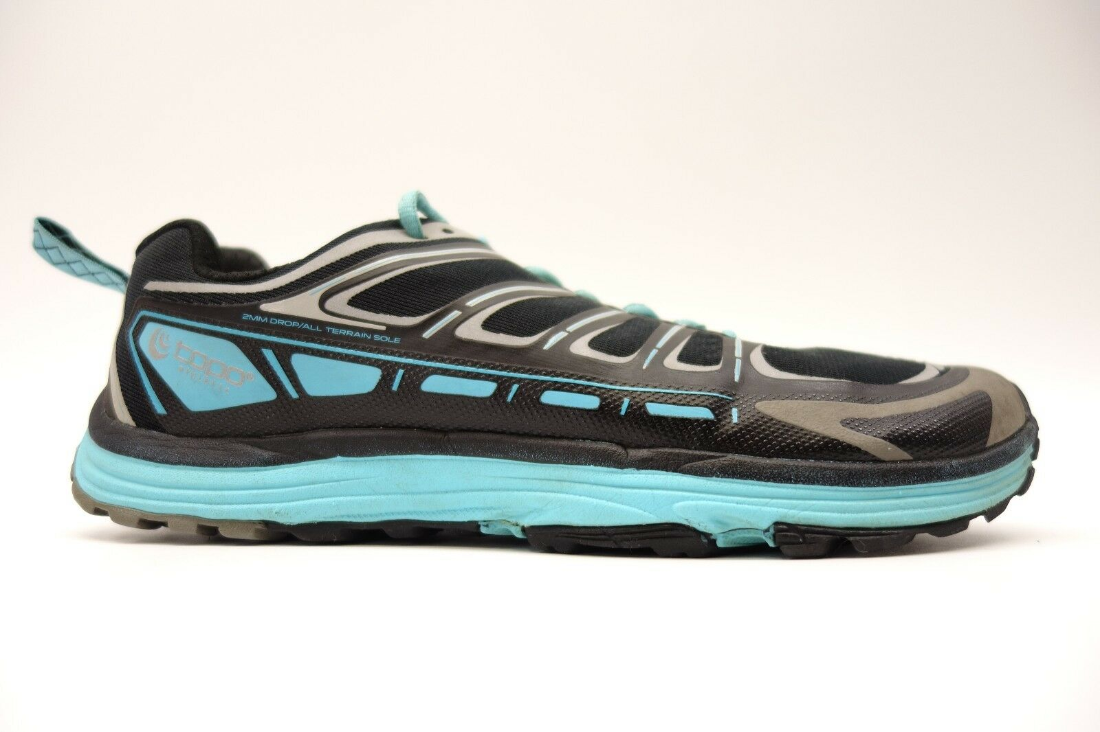 Damenschuhe Topo Runventure 2mm Drop Running Athletic Turquoise Trail Schuhes 9.5