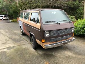 Volkswagen van 1984...not camperized, not running.