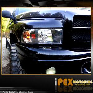 Black 1994 2001 dodge ram 1500 2500 3500 headlights w corner image is loading black 1994 2001 dodge ram 1500 2500 3500 sciox Gallery