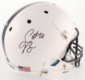 cbc5db26476 Image is loading SAQUON-BARKLEY-SIGNED-PENN-STATE-NITTANY-LIONS-HELMET-