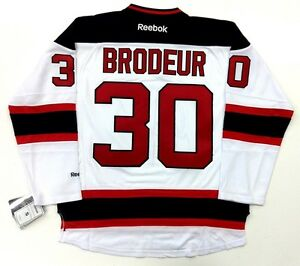 more photos c8330 97f0e Details about MARTIN BRODEUR NEW JERSEY DEVILS REEBOK PREMIER ROAD WHITE  JERSEY NEW WITH TAGS