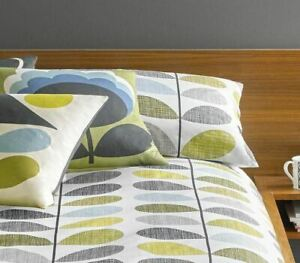 ORLA KIELY SCRIBBLE STEM DUCK EGG BLUE GREEN PAIR OF HOUSEWIFE PILLOWCASES