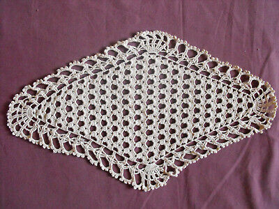 14.5''x9'' Hearty #1285 Beautiful Vintage Hand Made Doily 37cm/22cm Lace, Crochet & Doilies