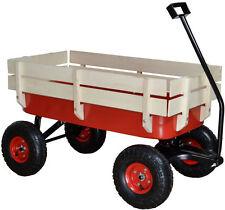 All Terrain Wagon Pulling Cargo w/ Wood Railing Children Kid Garden Outdoor Red