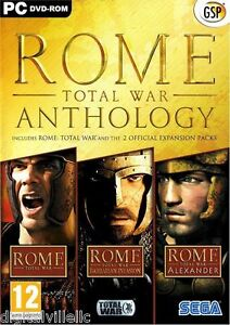 Rome Total War Anthology PC with Barbarian Invasion and Alexander Brand New