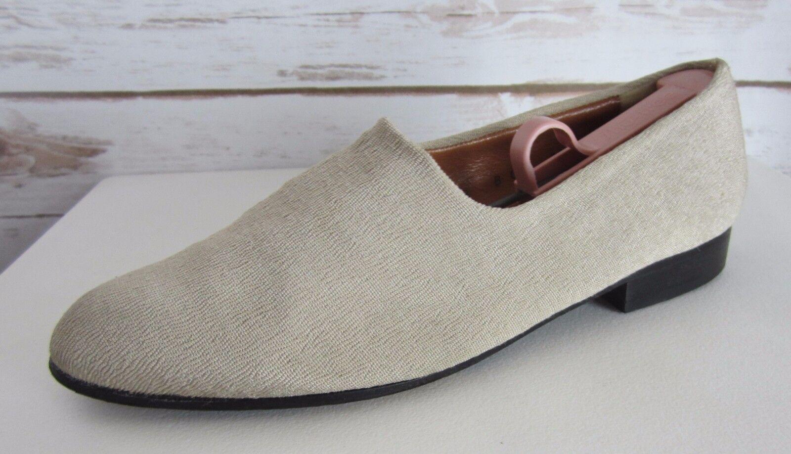 ROBERT CLERGERIE France Damenschuhe Beige Cloth Loafers Leder Slip On Flats Loafers Cloth US 8 B b7c2c1