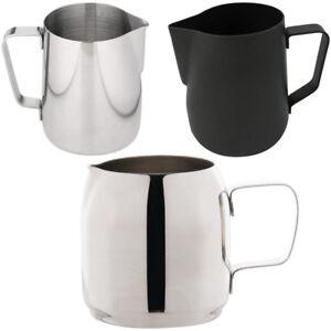 Stainless-Steel-Milk-Frothing-Jug-in-350mm-600mm-Black-Barista-Coffee-Measuring