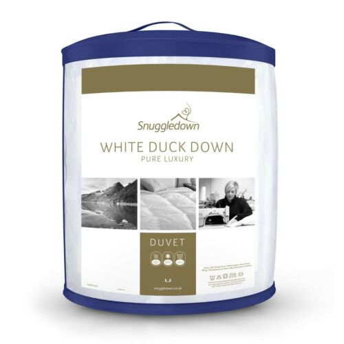 Snuggledown White Duck Down Pure Luxury 13.5 Tog Duvet, Double