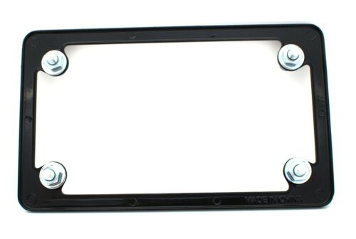 Flat Black Motorcycle License Plate Tag Frame /& 45 Bullet Lic Fastener Bolts