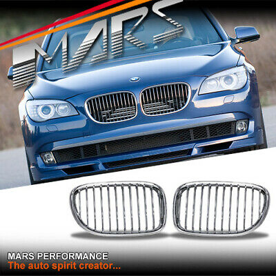 Chrome Silver Front Kidney Grille Grill for BMW 7 Series F01 F02 F03 F04