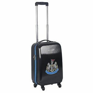 13ac031460f0 Image is loading NUFC-Hard-Suitcase-Football-Case-Wheeled-Travel-Trolley-