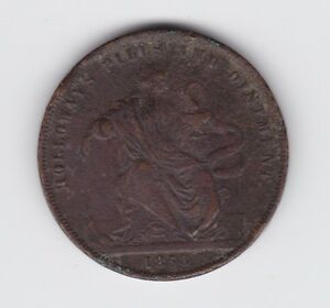 1858-Holloway-039-s-Pills-amp-Ointment-Token-Penny-Z-442
