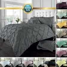 Pintuck Pleated Alford Duvet Cover Set Bedding With Pillowcase All Sizes Colours