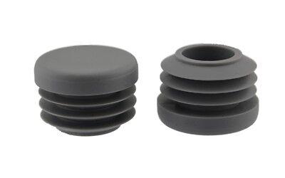 16 x Fussstopfen Ø 25mm schwarz rund   Rohrstopfen Fusskappen Gartenstuhl Tisch