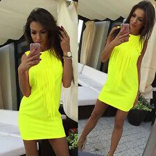 f27658c9bc Boho Womens Tunic Loose Long Tops Beach Bikini Cover Up Mini Dress  Sleeveless