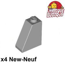 Lego - 4x slope brique pente inclinée 65 2x1x2 gris/light bluish gray 60481 NEUF