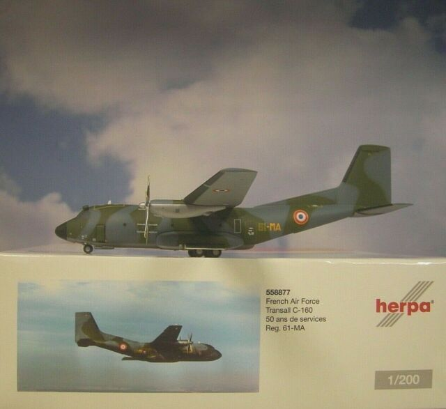 """Herpa Wings French Air Force /""""Orleans/"""" Transall C-160 1//200"""