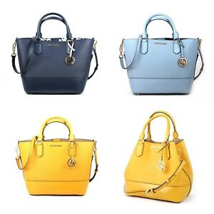 e4ab0cd73664 Image is loading New-Michael-Kors-Trista-Large-Leather-Grab-Bag