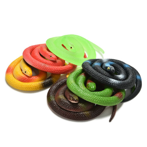 1 Pce Simulation Snake Rubber Fakes Funny April Fools Joke Funny Gags Trick TO