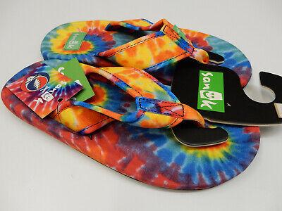 Tie Dye Hemp Flip Flops