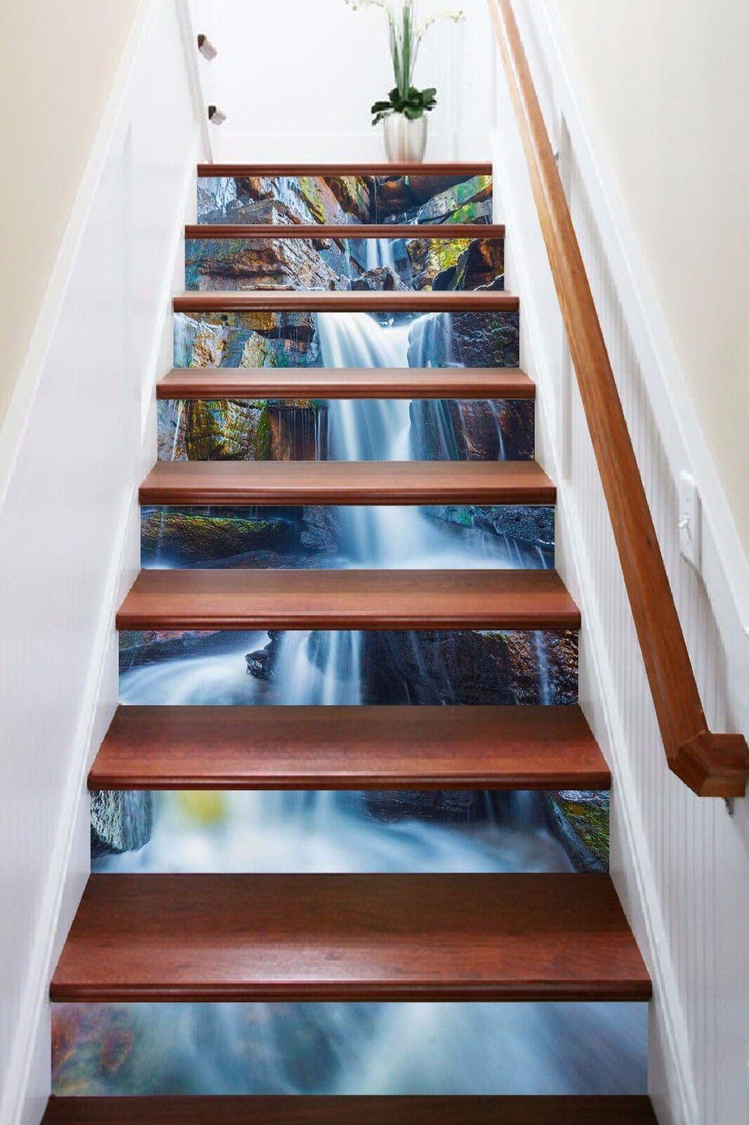 3D Nice Waterfall 651 Risers Decoration Photo Mural Vinyl Decal Wallpaper CA