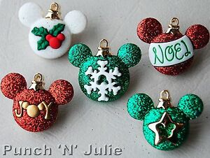 Details About Mickey Ornaments Disney Christmas Decorations Mouse Dress It Up Craft Buttons