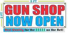 GUN SHOP NOW OPEN Banner Sign NEW Larger Size Best Quality for the $$$