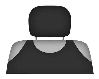 2 x HEADREST PROTECTIVE COVERS CAR GREY