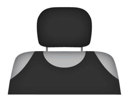 2 X HEADREST PROTECTIVE COVERS CAR VAN MINIBUS Black