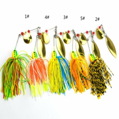 5x Hard Metal Fishing Lures Small Minnow Lure Bass Crank Bait Tackle  Fluff Hook