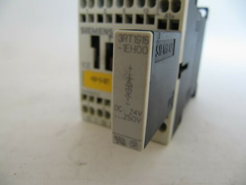 Siemens AC Motor Contactor w// 24VDC Coil /& Aux Contact 3RT1016-2BB41