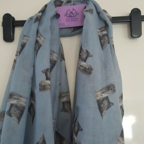 YORKSHIRE TERRIER DOG PRINT LADIES SCARF NEW RANGE 2 COLOUR CHOICE FAST DESPATCH