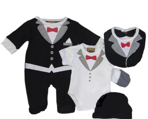 5 pc Bébé Garçons Little Gent Vêtements Bébé Ensemble Cadeau Party Formal Costume 3-6 mois