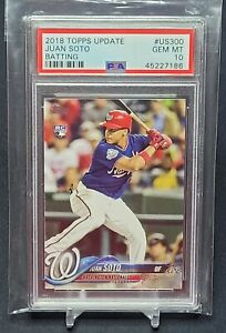 2018-Topps-Update-Batting-Juan-Soto-US300-Rookie-PSA-10-RC-GEM-MINT-Invest