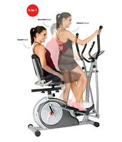 Recumbent Bike With Arm Exercise For Office Home Elliptical Excersize Equipment