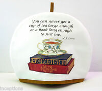 Alice's Cottage Cotton Tea Cozy Cup Of Tea And Books -