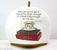 Alice's Cottage Cotton Tea Cozy Cup Of Tea And Books -
