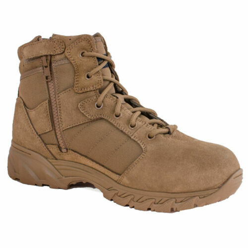 """12 Smith /& Wesson 11021 Men/'s Breach 2.0 6/"""" Side-Zip Tactical Boots Coyote"""