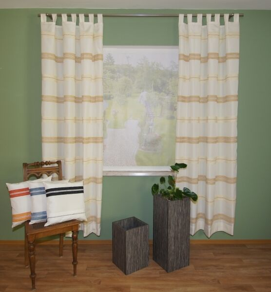 Las cortinas de sobre muebles Vivien dekoschal sobre visillos set cortina