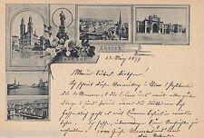 Gruss aus Zürich AK 1899 Mehrbild Vorläufer Schweiz Suisse Svizzera 1610441
