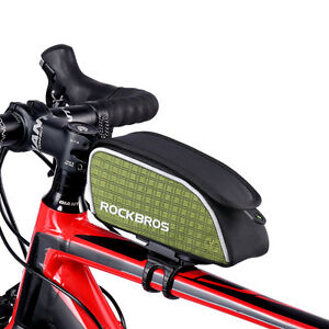 RockBros Cycling Portable Bag Folding Bike Handlebar Seat Bag Waterproof Green