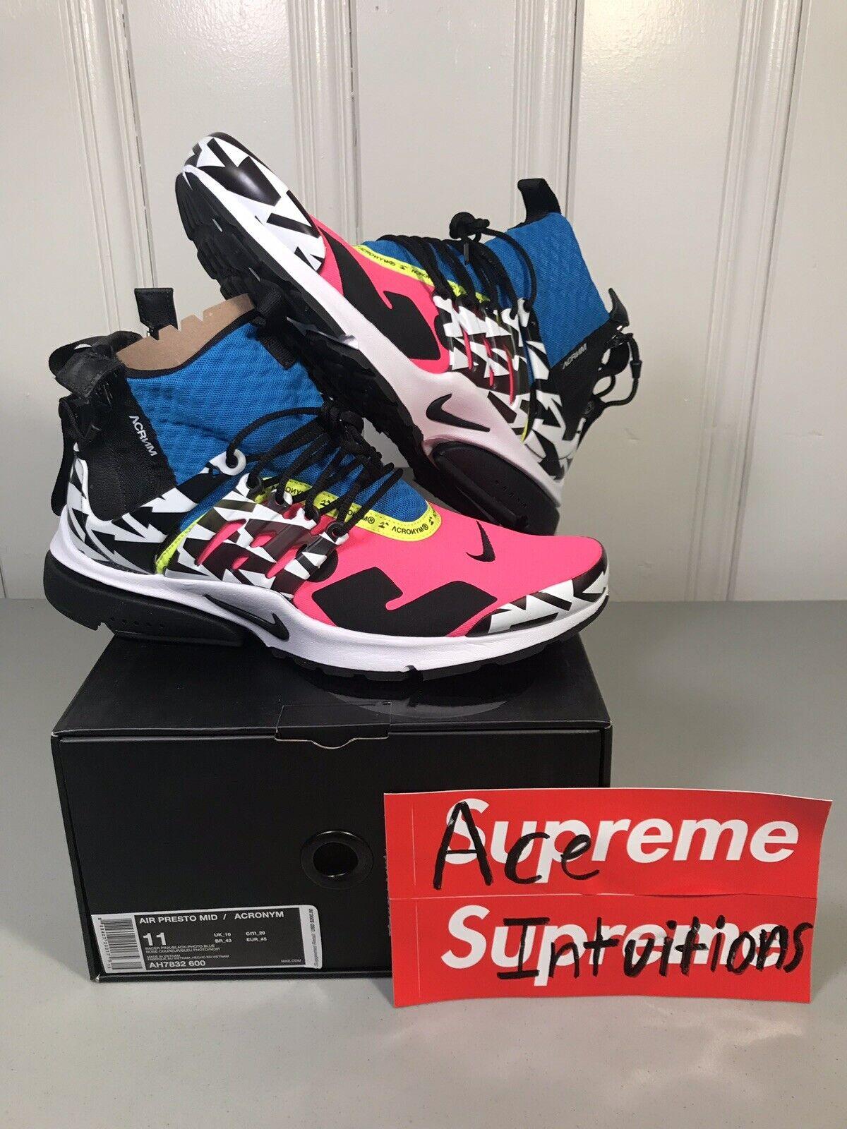 4170aeb1c7 Nike X Acronym Air Presto Mid Racer Pink Blue Limited Ah7832-600 ...