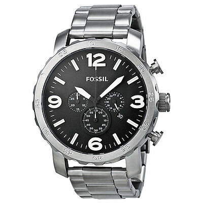 Fossil Nate Chronograph Stainless Steel Mens Watch JR1353