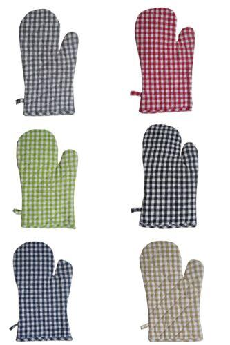 Ofenhandschuh Karo Vichy in 6 Farben