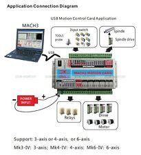 3 Axis CNC Interface Breakout Board USB Mach3 Card Drive Stepper Motor Control
