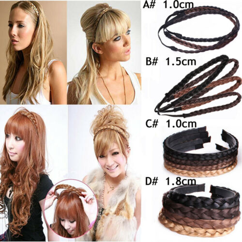 Synthetic twisted wig braided hair band elastic braided hair band